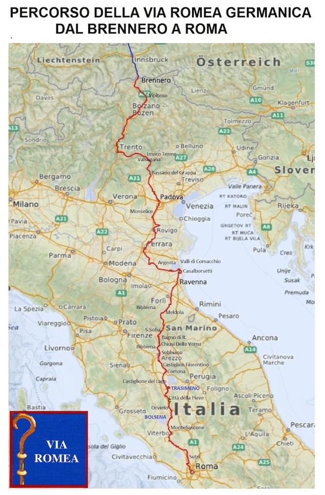 la-via-romea-in-italia-le-tappe-in-bici-fino-a-roma-percorso